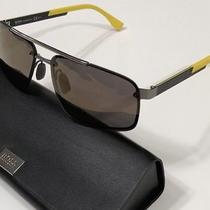 Nwt Hugo Boss Mens Boss 0773/s Hxdhj Crbn Fiber/ylw/mirror Sunglasses 63/14/140 Photo