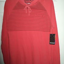 Nwt Hurley Blockade Men's Lightweight Hoodie Red Pullover Size Medium 40 Photo