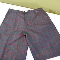 Nwt Hurley Boardwalk Short Comfort In/out Water Gray Size 28 Photo