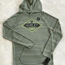 Nwt Hurley Boy's Pullover Hoodie Shirt Dri-Fit Lightweight Sage Green Xl Ret 36 Photo