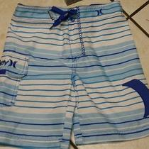 Nwthurley Boys Board Short/swimsuitblue/white Stripes12-Adjustable Waist Band Photo