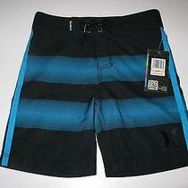 Nwt Hurley Boys Size 7 Blue Black Surf Beach Surf Boardshorts Board Shorts  Photo