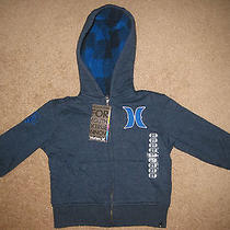 Nwt Hurley Full-Zip Hoodie- Size 2t - Free Shipping  Photo
