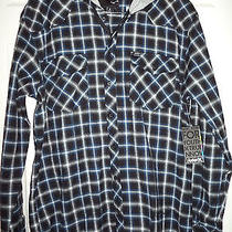 Nwt Hurley Mens Avid Hooded Plaid Flannel Shirt Jacket Hoodie Sz Large 59.50 Photo