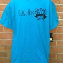Nwt Hurley Mens Large Classic Fit Aqua Blue Skateboard Surfboard T-Shirt Tee Photo