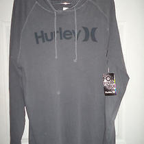 Nwt Hurley One and Only Men's Lightweight Hoodie Gray Pullover Size Medium  Photo