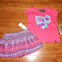 Nwt Hurley Shirt Skirt Outfit Baby Girls 12 Months 44 Cute Photo
