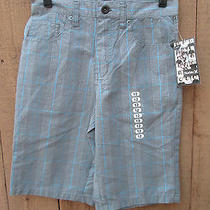 Nwt Hurley Size 12 Plaid Shorts Gray and Blue Photo