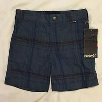 Nwt Hurley Toddler Baby Boys Blue Plaid Shorts Size 18months Photo