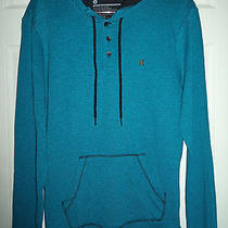 Nwt Hurley Twist Men's Double Knit Hoodie Blue Pullover Size Large Photo