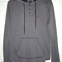 Nwt Hurley Twist Men's Double Knit Hoodie Gray Pullover Size Medium  Photo