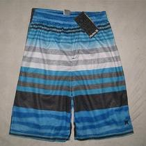 Nwt Hurley Youth Boys Athletic Active Shorts Size Medium Baby Cyan Free Us Ship Photo