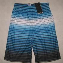 Nwt Hurley Youth Boys Athletic Active Shorts Size Medium Blue/black Free Us Ship Photo