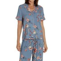 Nwt in Bloom by Jonquil  Blue Floral Pajama Top  Size S Photo