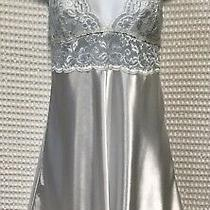 Nwt in Bloom by Jonquil Large White Blue Satin Stretch Lace Chemise Nightgown Photo
