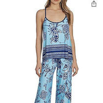 Nwt in Bloom by Jonquil Pajama Top Medium Blue Paisley Photo