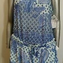 Nwt in Bloom by Jonquil Pajamas Shorts Set 2 Pc Size Xl Navy/aqua Paisley Slinky Photo