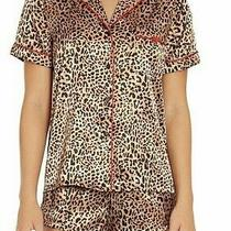 Nwt in Bloom by Jonquil Tan/black/pink Leopard Pajama/lounge Shorts/top Set S Photo