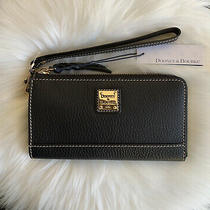 Nwt in Box Dooney & Bourke Leather L Zip Clutch Wallet Wristlet Black 148 Photo