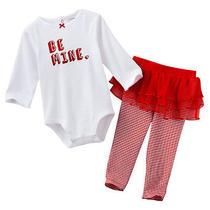 Nwt Infant Girl 2piece Carter's Be Mine Valentine Creeper Legging Tutu 3 or 6mo  Photo