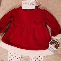 Nwt Infant Girl's Dressy Red Shirt With Leggings Photo