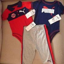 Nwt Infants 3-6 Months Puma 3pc Set  2 Creepers and 1 Pant - Super Cute Photo