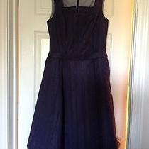 Nwt Isaac Mizrahi for Target Taffeta Dress Navy Size 10 Photo