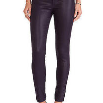 Nwt J Brand 485 Super Skinny in Lacquered Black Polished Stretch Jeans 30 218 Photo