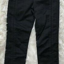 Nwt J Brand Jeans Size 31 Alana High Rise Crop Skinny Black Ladder Lace 228 Photo