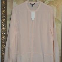 Nwt J.crew Collection 100% Silk Ladder-Stitch Blouse Sunwashed Blush 10 Reg 168 Photo