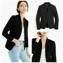 Nwt J. Crew Going Out Blazer Size 8 Jacket Black Stretch Twill Womens  Photo