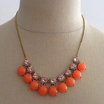 Nwt J Crew Necklace Orange and Pale Pink Stones Adjustable Length Photo