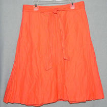 Nwt J Crew Sz 4 Orange Crinkle Tie Belt Skirt Q600 Photo
