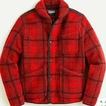 Nwt J Crew Wallace & Barnes Sherpa Fleece Jacket in Plaid Sz Xl Red Black Photo
