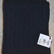 Nwt Jack Spade Holmes Cable Knit Chunky Scarf Lambs Wool Navy Blue 125 Photo