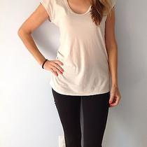Nwt James Perse Women's Slouchy Side  Shirred Tee/top Size 4 in Blush Color Pksl Photo