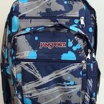 Nwt Jansport Big Student Backpack Book Bag Boys School Pack Sack Navy Blue New Photo