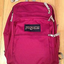 Nwt Jansport Big Student Backpack in Berry Book Bag 62.00 Photo