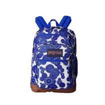 Nwt Jansport Classic Student Cool Lace Bubbles Blue & White Backpack Photo