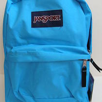 Nwt Jansport Girls Superbreak Backpack Book Bag School Pack Padded Mammoth Blue Photo