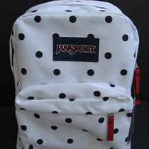 Nwt Jansport Girls Superbreak Backpack Book Bag School Pack Padded Polka Dot New Photo