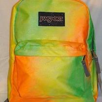 Nwt Jansport One of a Kind Hand Painted Orange Yellow Green Backpack Photo