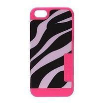 Nwt Jansport Slip Case Iphone 5 - Zebra Black White Flourescent Pink  Photo