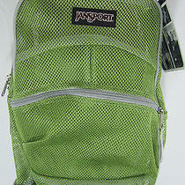 Nwt Jansport Student School Backpack Spring Green Color Nice for Summer Unisex Photo