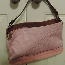 Nwt Jaquard Pink and Suede Coach Purse. Photo