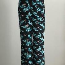 Nwt Jcrew 148 Silk Straight-Leg Pant in Botanical Bees Print Size 0 Black Al265 Photo