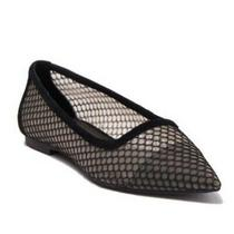 Nwt Jeffrey Campbell Black Meranda Mesh Flats Shoes Size 6 125 Photo