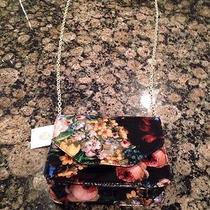 Nwt Jessica Mcclintock Black Floral Fun Crossbody Handbag Photo