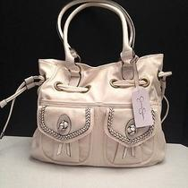 Nwt Jessica Simpson  Emma Js5661 Antique White Handbag - Msrp  108.00 Photo