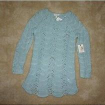 Nwt Jessica Simpson Maternity Blue Tunic Sweater  Sz M Photo